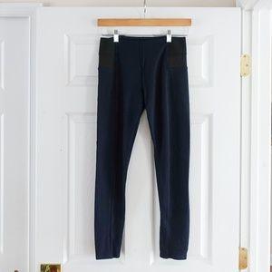 Zara Basic High Waisted Leggings - Navy Blue M